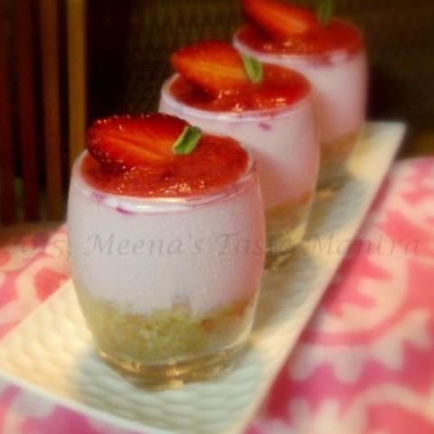 Photo of Berry Yogurt Cheesecake by Meena C R at BetterButter