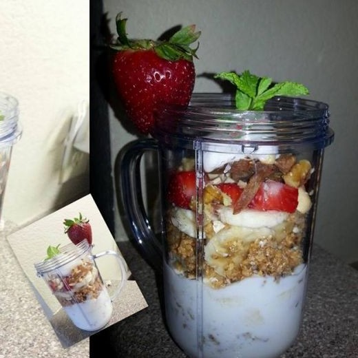 Photo of Banana & strawberry with mixed dry fruits Parfaits by Aayushi Manish at BetterButter