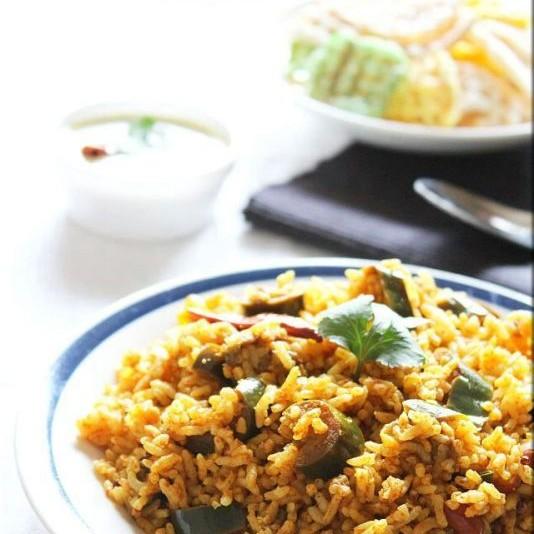How to make Brinjal Rice/ Vangi Bhath