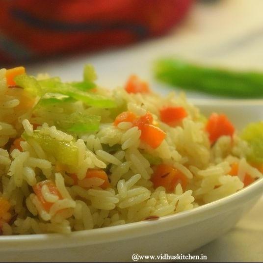 How to make बिना प्याज लहसुन  की  सब्जी पुलाव ।