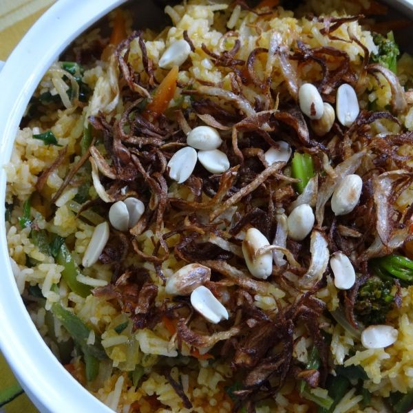 Vegetarian Nasi Lemak Recipe, How to make Vegetarian Nasi ...