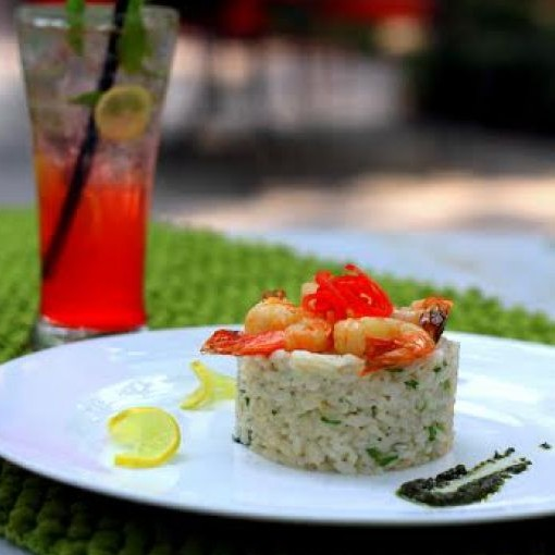 Photo of Pea, Prawn and Lemon Risotto by Lodi - The Garden Restaurant  at BetterButter
