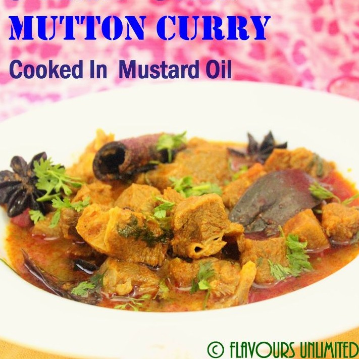 How to make Pressure Cooker Mutton Curry Cooked in Mustard Oil