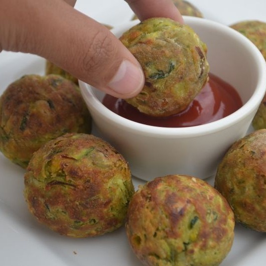 Photo of Zucchini Tots (made in Appe pan) by Soniya Saluja at BetterButter