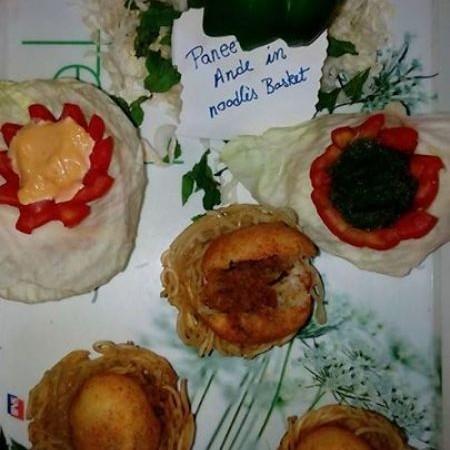 Photo of paneer ke ande in noodles basket by sarita ayush at BetterButter