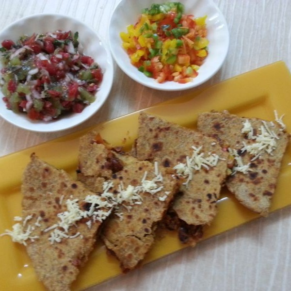 Photo of Paratha quesadillas with sweet & sour salsa by Ishika Thakur at BetterButter