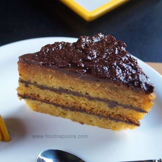 How to make Eggless mango cake with Ganache frosting