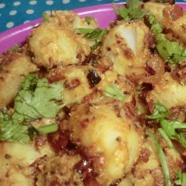 How to make Arvi/Colocasia takatak/spicy Arvi masala