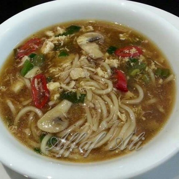 Photo of Hot and Sour Chicken Noodle Soup by Affaf Ali at BetterButter