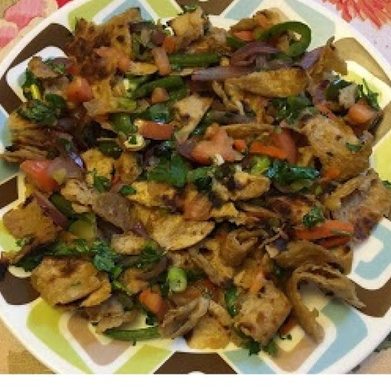 Photo of Indo-chinese Fried Chapati (Use of leftover Chapati) by Ankita Agarwal at BetterButter
