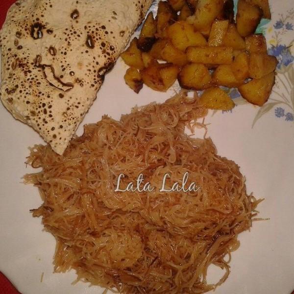 Photo of Seviyan & Potatoes with Papad by lata lala at BetterButter