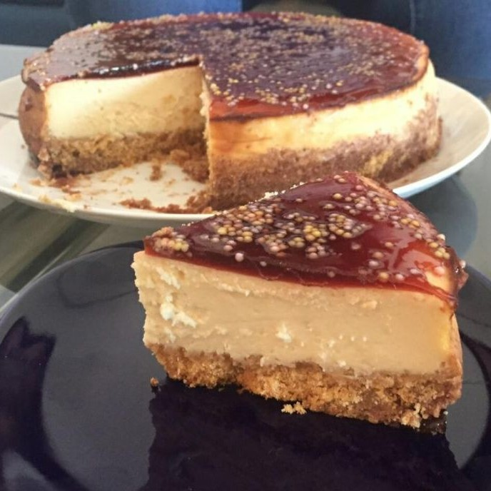 Photo of Cheesecake with Wine Gelée by Manini Badlani at BetterButter