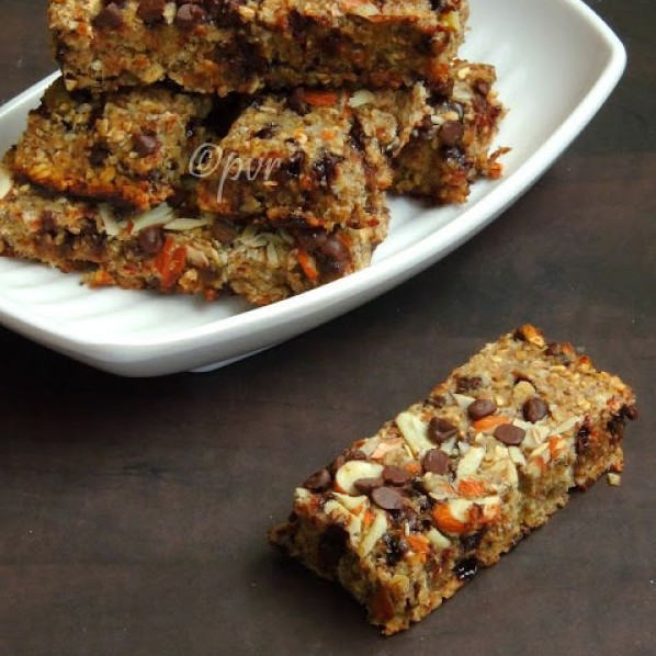 Photo of Vegan Banana Oats Bars with Chocolate Chips by Priya Suresh at BetterButter