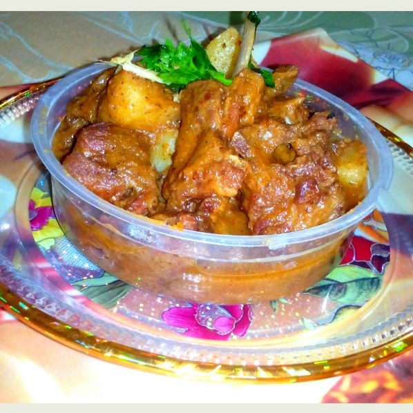 Photo of Aaloo gosht by Musfirah's Recipes at BetterButter