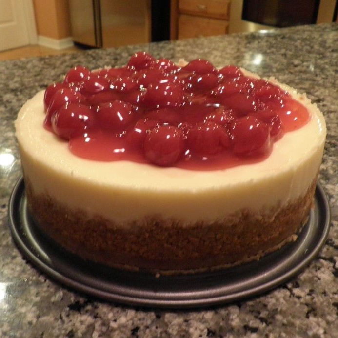 Photo of Lemon Cheesecake with Cherry Topping by Kiran Kardani at BetterButter