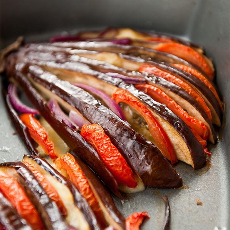 Photo of Roasted eggplant fan by Gabriela Lupu at BetterButter