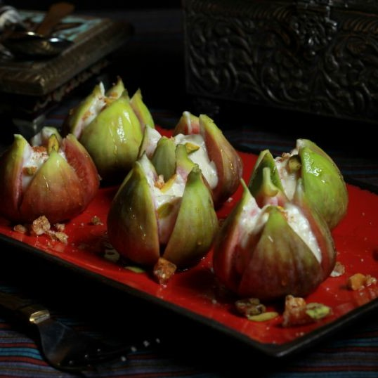 Photo of Fresh Figs with Lychee Honey - Nut Shrikhand by Madhuli Ajay at BetterButter