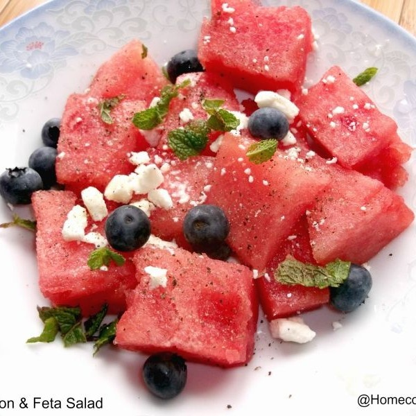 How to make Watermelon & Feta Salad