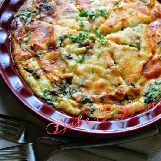 How to make Spinach Mushroom Cheese Quiche