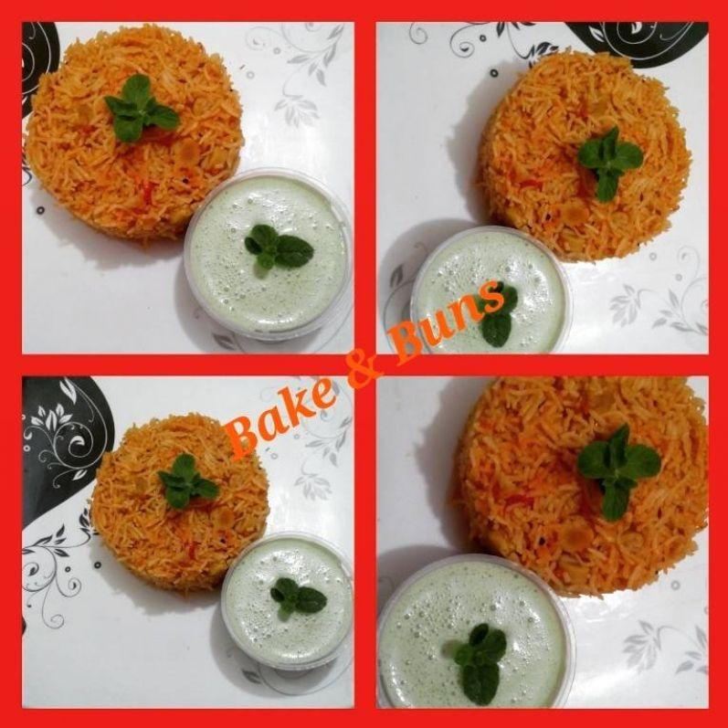 How to make Gatta pulao with mint raita
