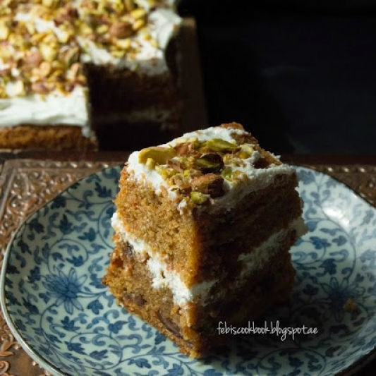 Photo of Tea flavoured Carrot and Date cake by Febina Farook at BetterButter