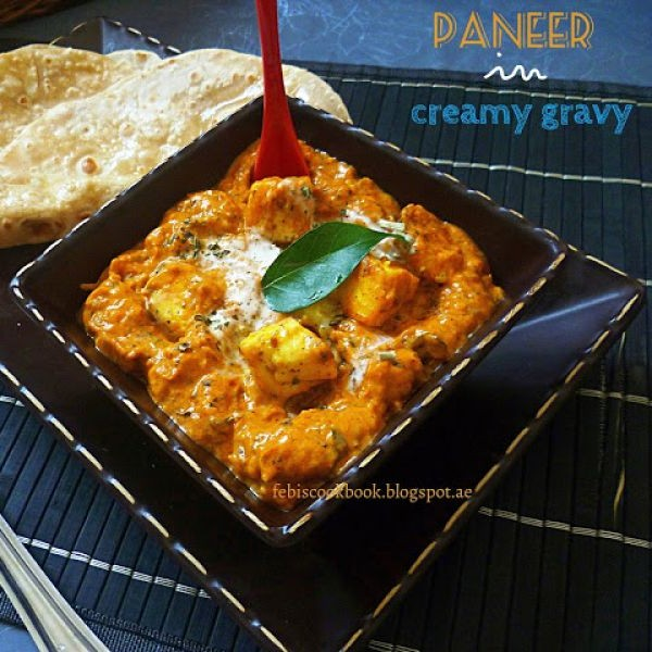 How to make Paneer in creamy gravy