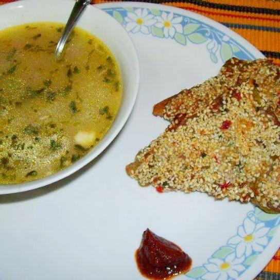Photo of Lemon Coriander Soup & Sesame Chicken Toast by Pritha Sen at BetterButter