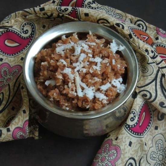 How to make Vella Aval/Sweetened Red Rice Flakes