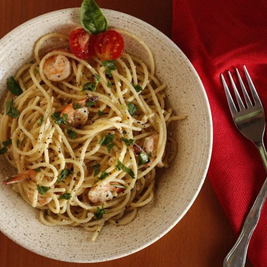 How to make स्पेगेटी बटर लहसुन प्रोन्नस।