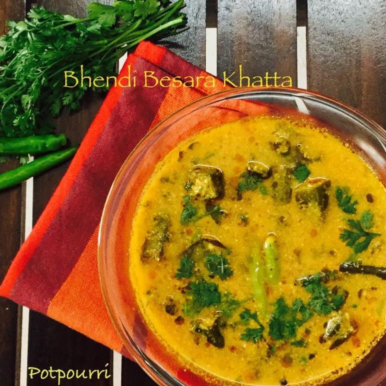 How to make Bhendi Besara Khatta/Okras in tomato and mustard paste gravy