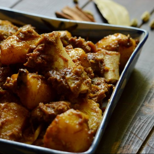 Photo of Kosha Mangsho - A Bengali Classic by Rhea Mitra-Dalal at BetterButter