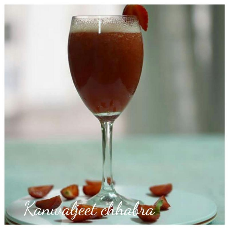 How to make Strawberry sugarcane cooler