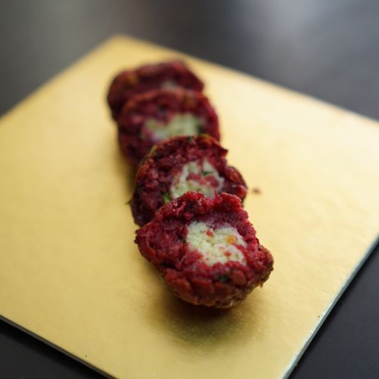 How to make Cheese filled beetroot  balls
