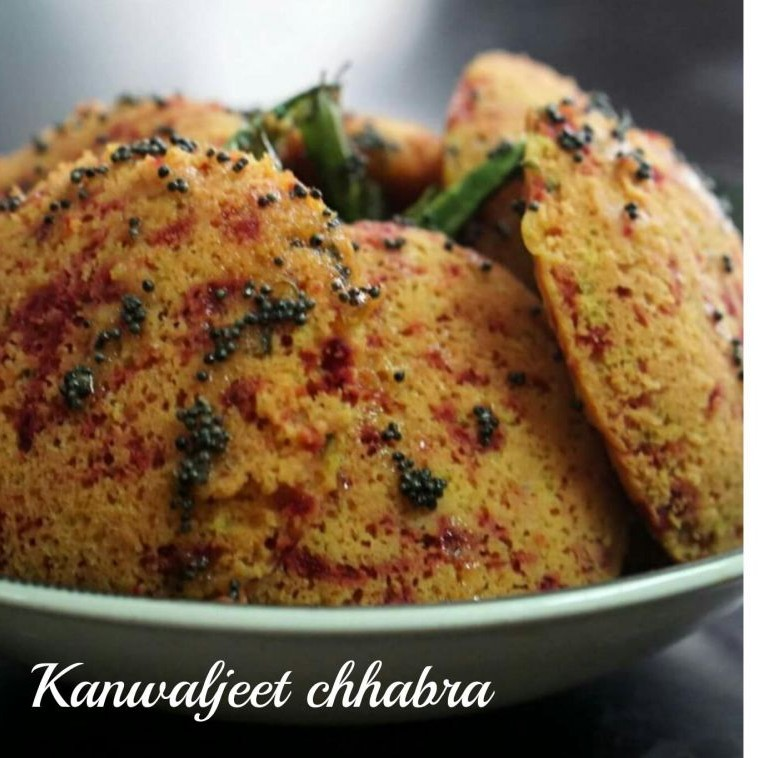 Photo of Beetroot dhokla ( cooked in idli moulds ) by Kanwaljeet Chhabra at BetterButter