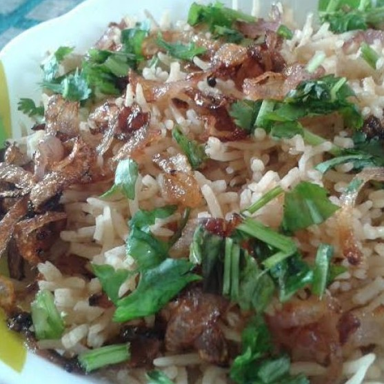 Photo of Fried onion rice /Flavored rice with fried onion by Hem Lata Srivastava at BetterButter