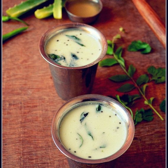Photo of Katralai Neer Mor / Aloe vera butter milk by Kalpana V Sareesh at BetterButter