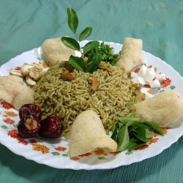 Photo of Rice with triple greens by Sujatha Niranjan at BetterButter