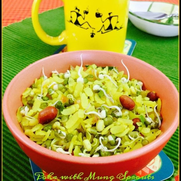 Photo of Poha with Mung Sprouts by Saswati Hota at BetterButter