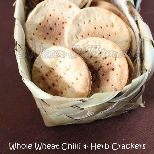 Photo of Whole Wheat Chilli & Herb Crackers by Sindhu Sriram at BetterButter