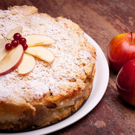 Photo of Buttery Brown sugar Apple Cake by Bindiya Sharma at BetterButter