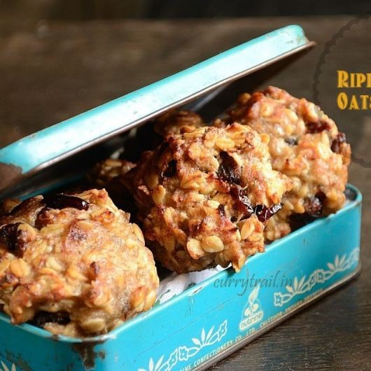 Photo of Flour less, Egg less, Butter less Healthy Banana Oats Cookies by Jyothi Rajesh at BetterButter
