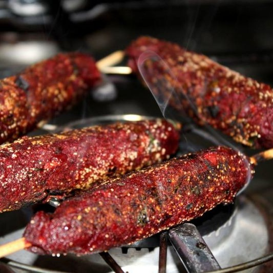 Photo of Smokey low fat veg seekh kebab by Bejaya Sinha at BetterButter