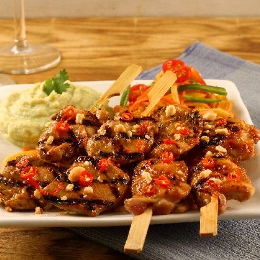 How to make Kung Pao Chicken Skewers