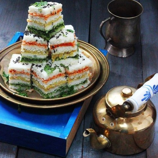Photo of Three layered Sandwich Dhokla by Jagruti D at BetterButter