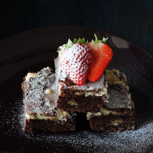 Photo of Eggless Cream Cheese Chocolate Brownies by Jagruti D at BetterButter