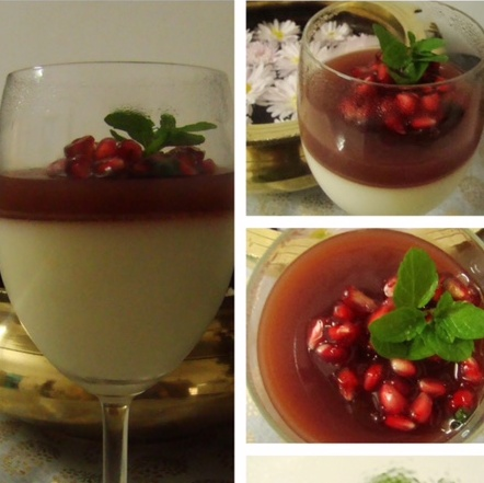 Photo of Low fat Italian PannaCotta with Pomegranate Jelly by Shalini Digvijay at BetterButter