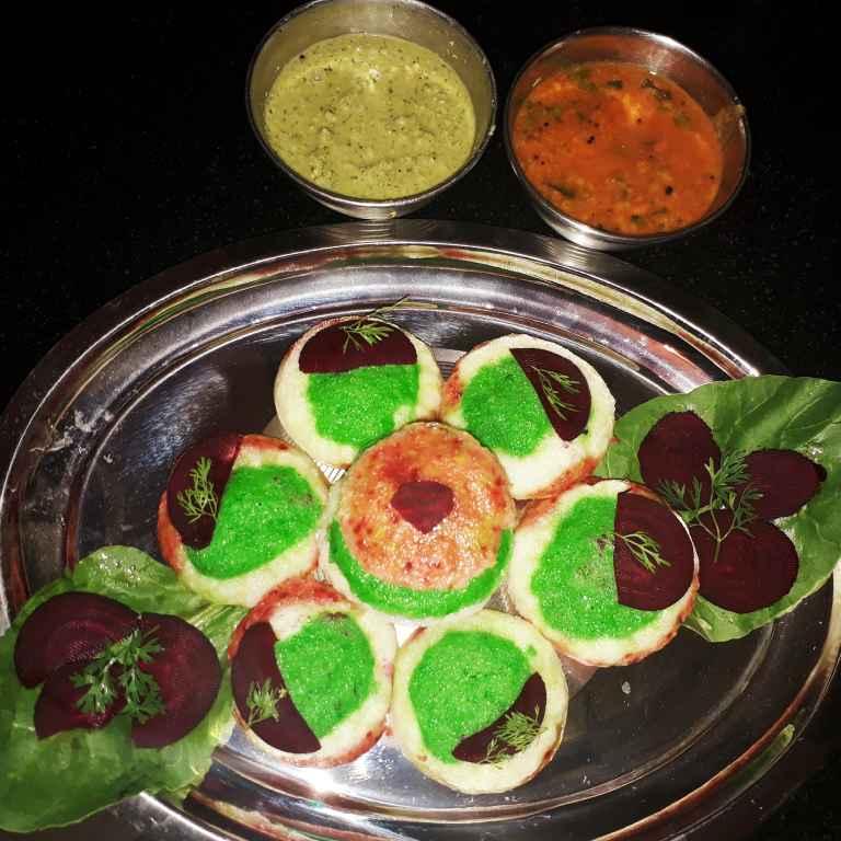 How to make Tri color rava idli