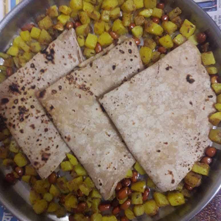 Photo of Roti and Batate Fry by Puja Panja at BetterButter