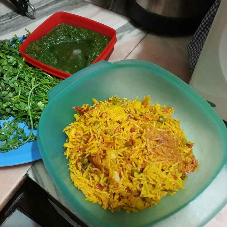 How to make Pressure cook veg pulav