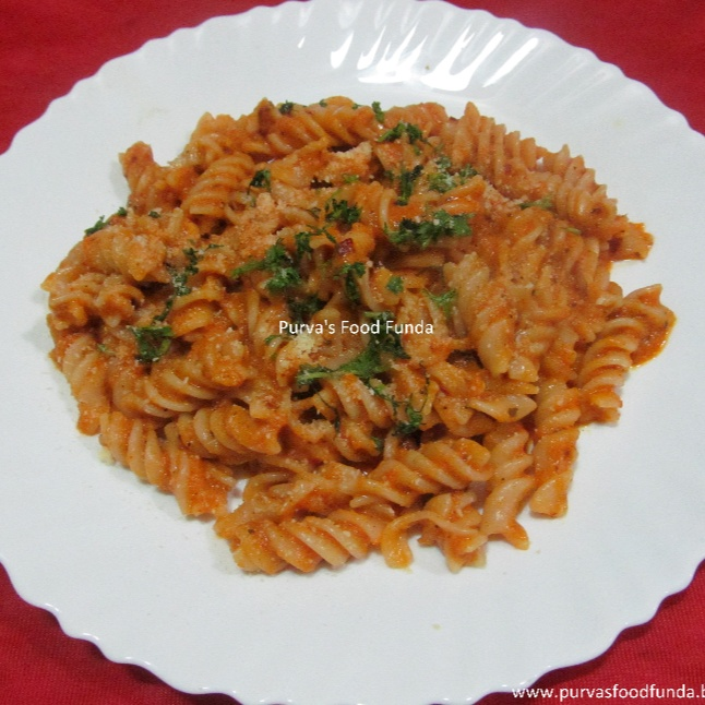 How to make Roasted Red Bell Pepper Pasta